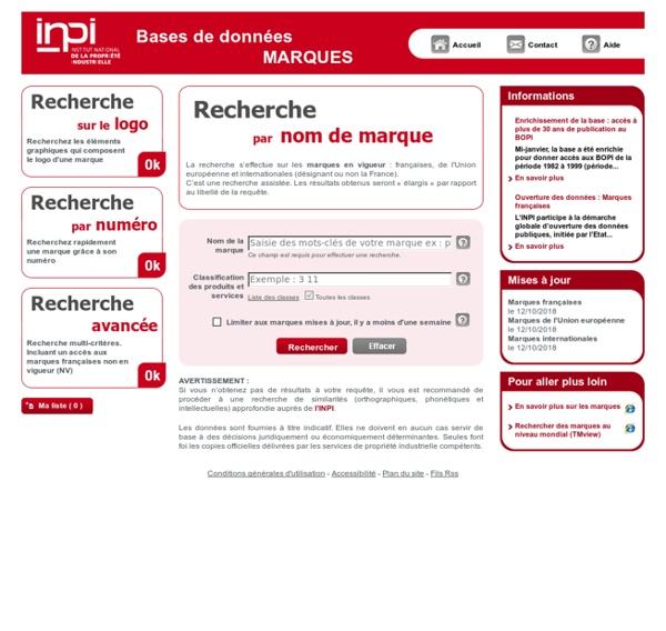 INPI – Service de recherche marques