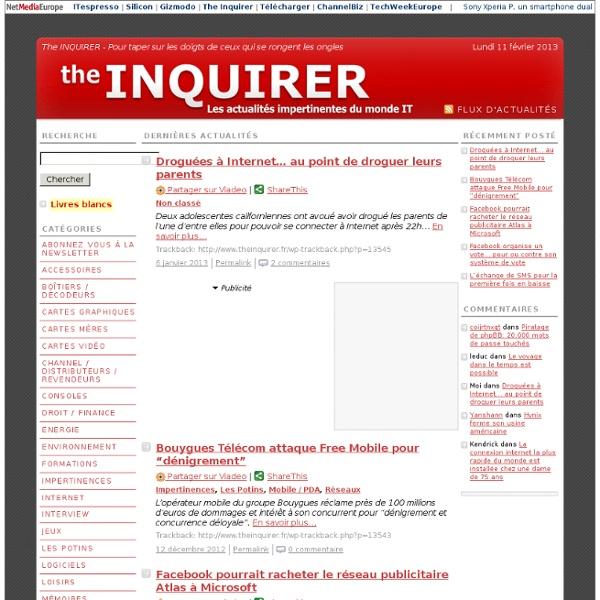 The Inquirer - Pour taper sur les doigts de ceux qui se rongent les ongles