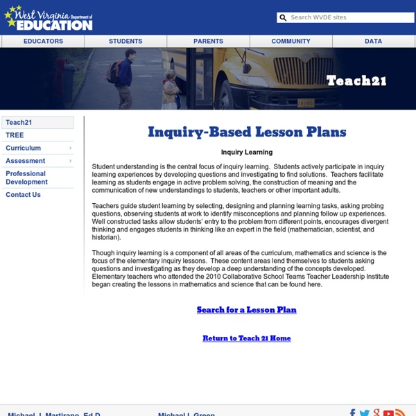 inquiry based learning lesson plan template - inquiry based lesson plans pearltrees