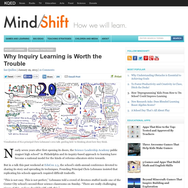 Why Inquiry Learning is Worth the Trouble