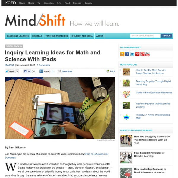 Inquiry Learning Ideas for Math and Science With iPads