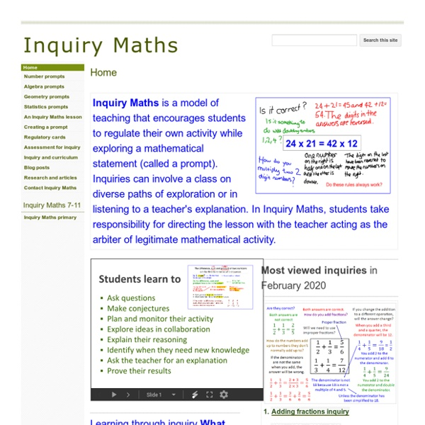 Inquiry maths