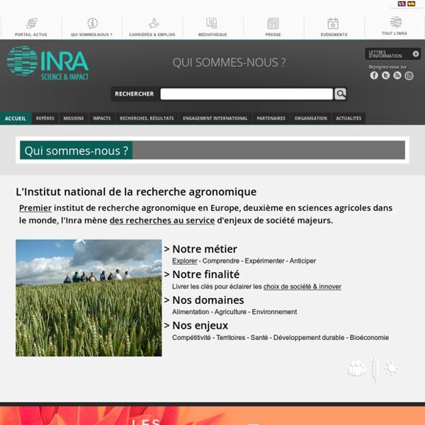 INRA 20/07/12 L'Inra publie son rapport d'activité 2011