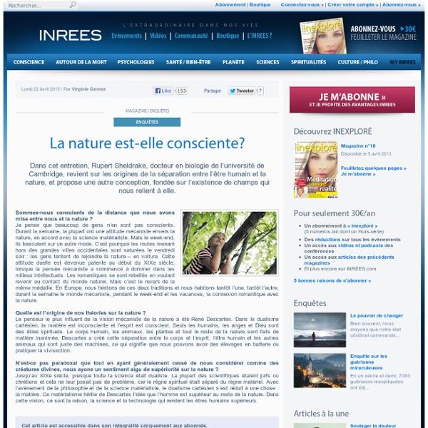 La nature est-elle consciente?