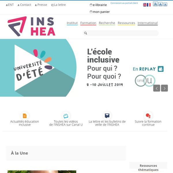 Accueil du site de l'INS HEA