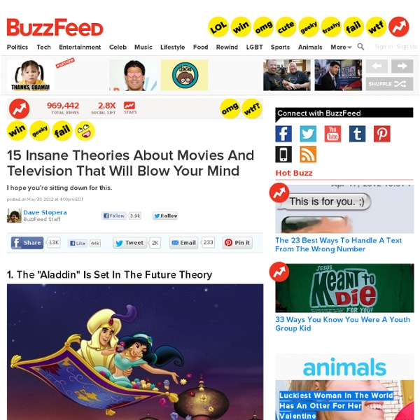 15 Insane Theories About Movies And Television That Will Blow Your Mind