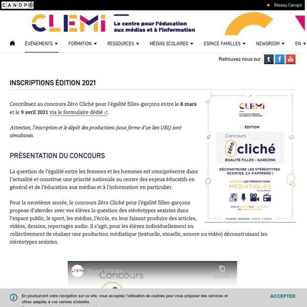 Inscriptions édition 2021- CLEMI