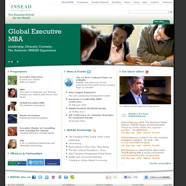 INSEAD - Welcome to the Business School for the World