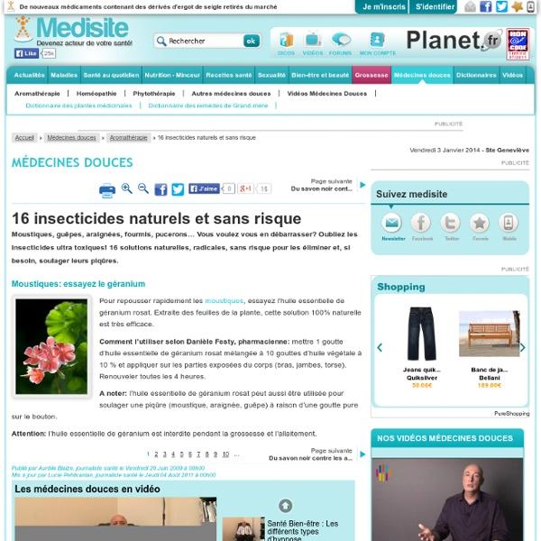 16 insecticides naturels et sans risque - Medisite : Moustiques: essayez le géranium