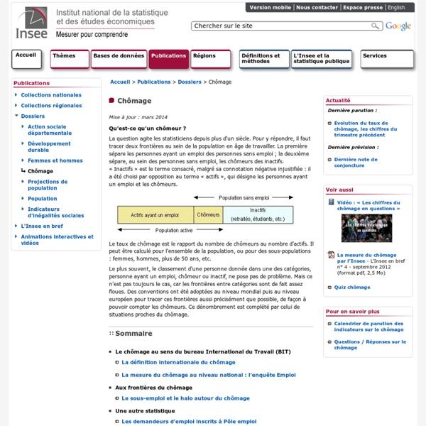 Publications et services - Chômage