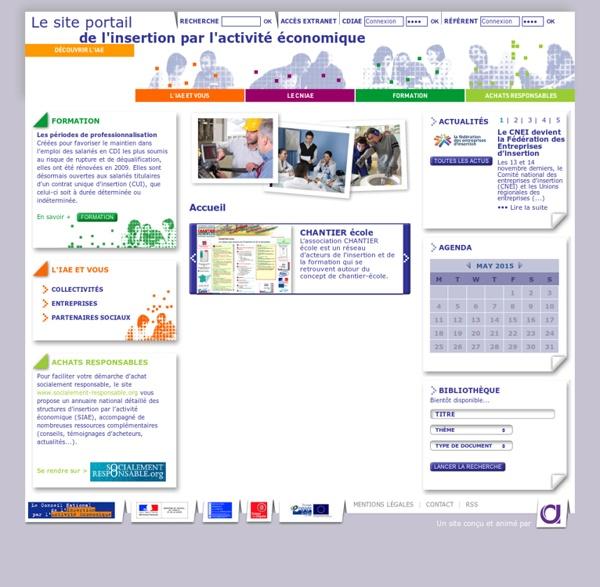 Le site portail de l'insertion par l'activité économique