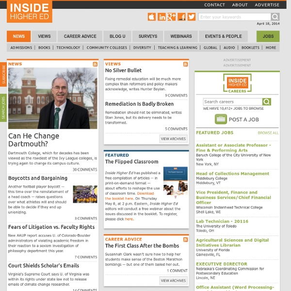 Higher Education News, Career Advice, Events and Jobs