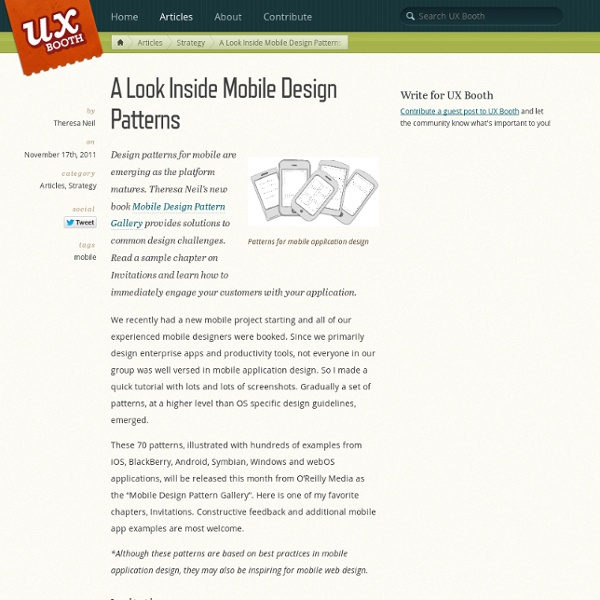 A Look Inside Mobile Design Patterns