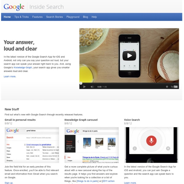 Under the Hood · Inside Google Search