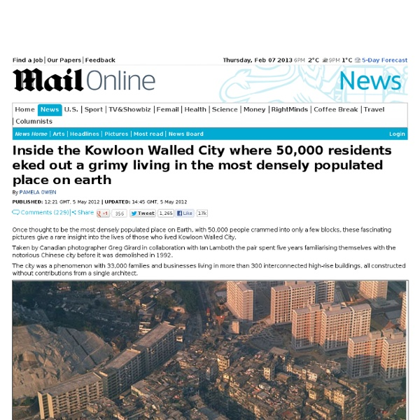 A rare insight into Kowloon Walled City
