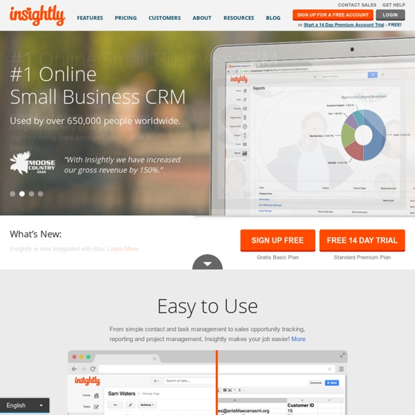 1 Free Online CRM for Small Business: Customer Relationship Software - Insightly - Insightly