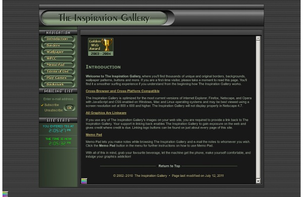 The Inspiration Gallery - Free borders, backgrounds, fonts and unique graphics