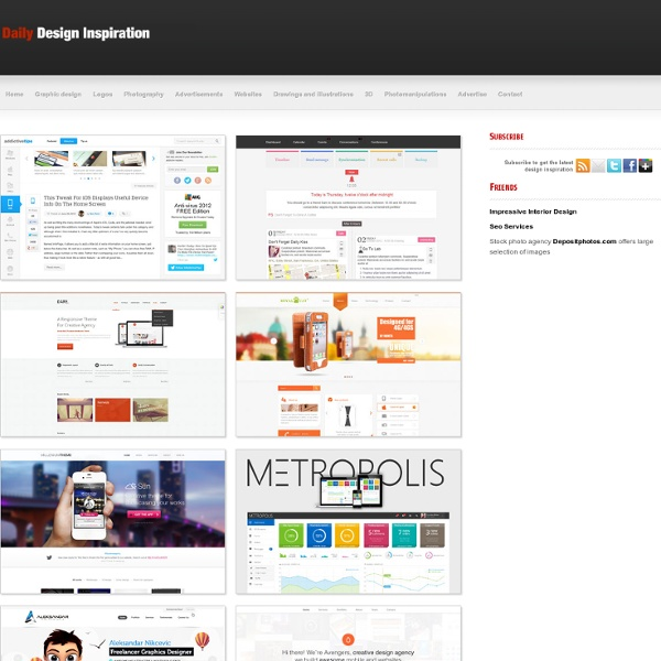 Daily Design Inspiration - Top quality design inspiration from various categories delivered to you daily