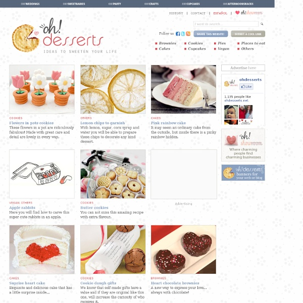 Inspiration and ideas of dessert recipes such as cupcakes and muffins, pies and cakes, cookies, biscuits and brownies