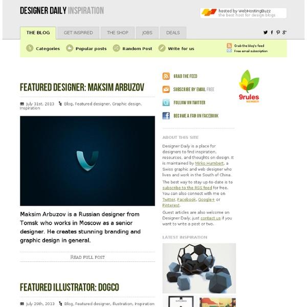 Inspiration - Design daily news