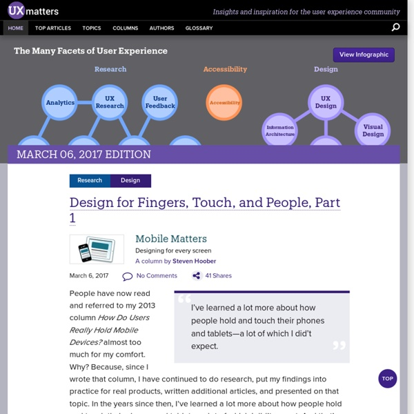 Insights and inspiration for the user experience community