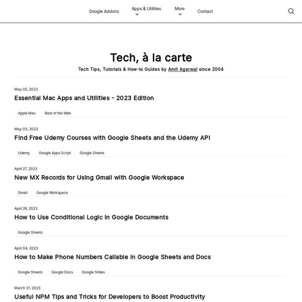 Digital Inspiration: A Technology Blog on Software and Web Appli