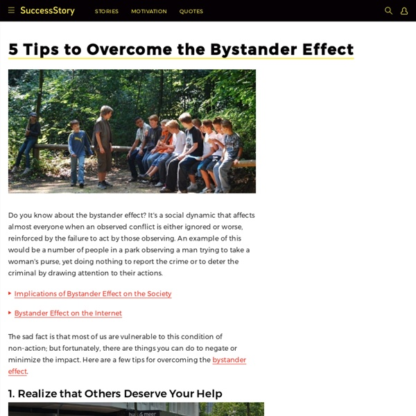 5 Effective Tips to Overcome the Bystander Effect