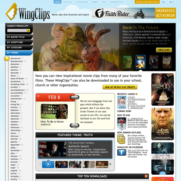 Free Inspirational Movie Clips for Teaching and Sermon Video Illustrations at WingClips.com