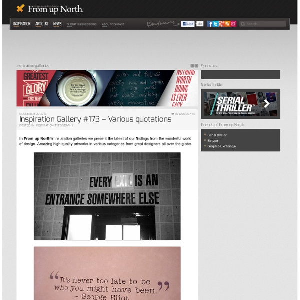 Inspiration Gallery #173 – Various quotations « From up North.