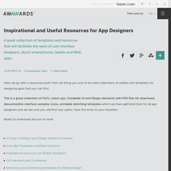 Inspirational and Useful Resources for App Designers