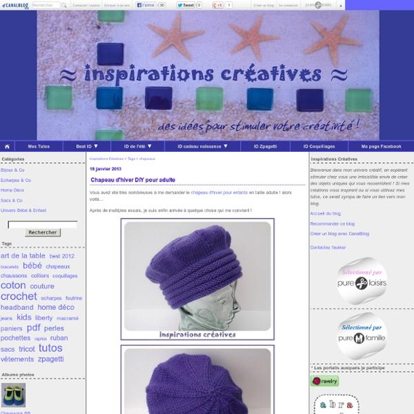 Chapeaux : Tous les messages sur chapeaux - Inspirations Créatives