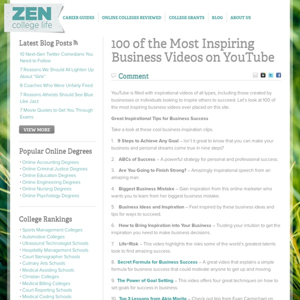 100 of the Most Inspiring Business Videos on YouTube