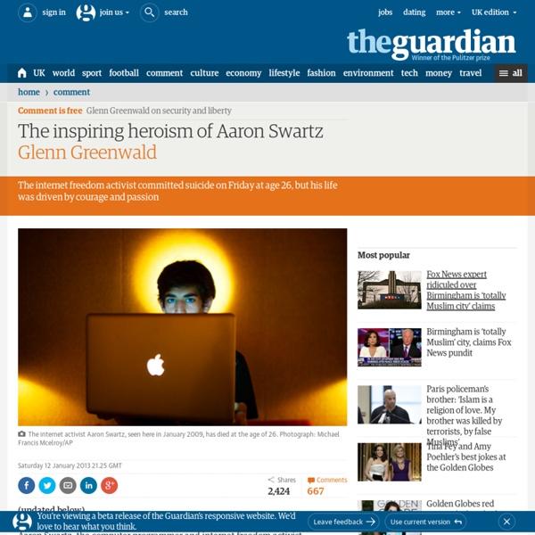 The inspiring heroism of Aaron Swartz