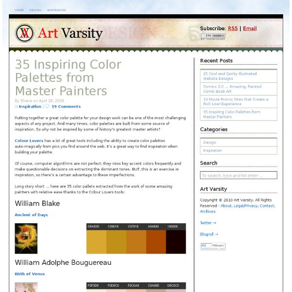 35 Inspiring Color Palettes from Master Painters