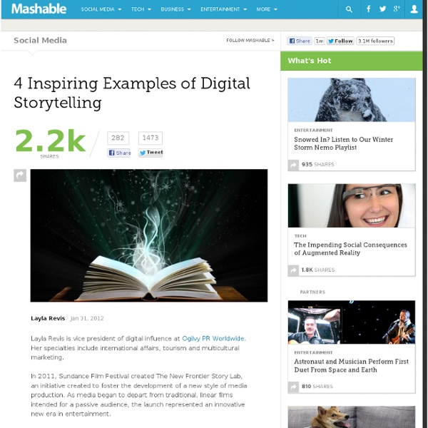 4 Inspiring Examples of Digital Storytelling