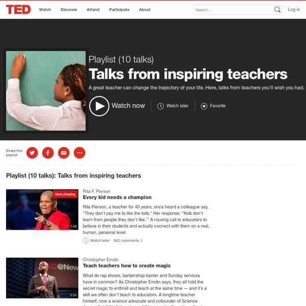 Talks from inspiring teachers
