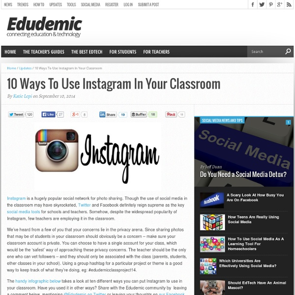 10 Ways To Use Instagram In Your Classroom