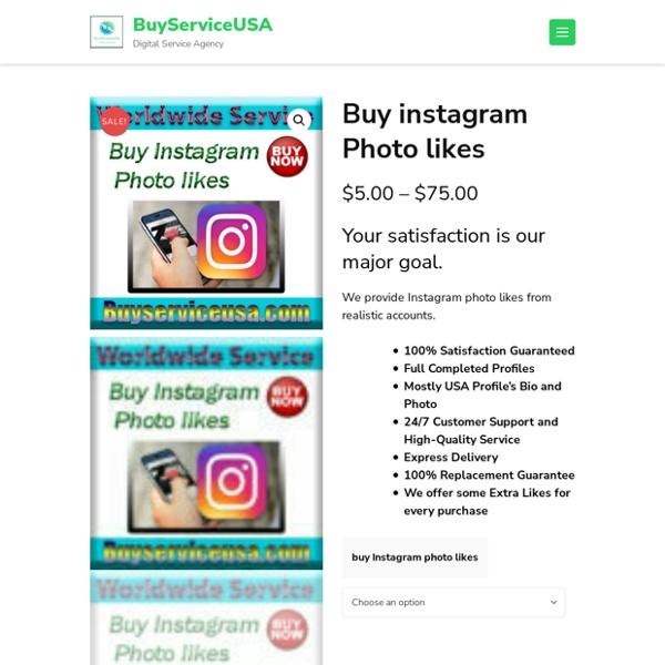 Buy instagram Photo likes - BuyServiceUSA