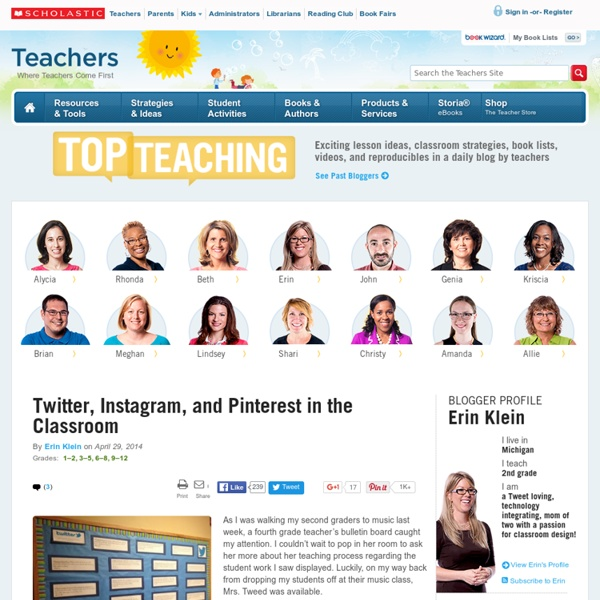 Twitter, Instagram, and Pinterest in the Classroom