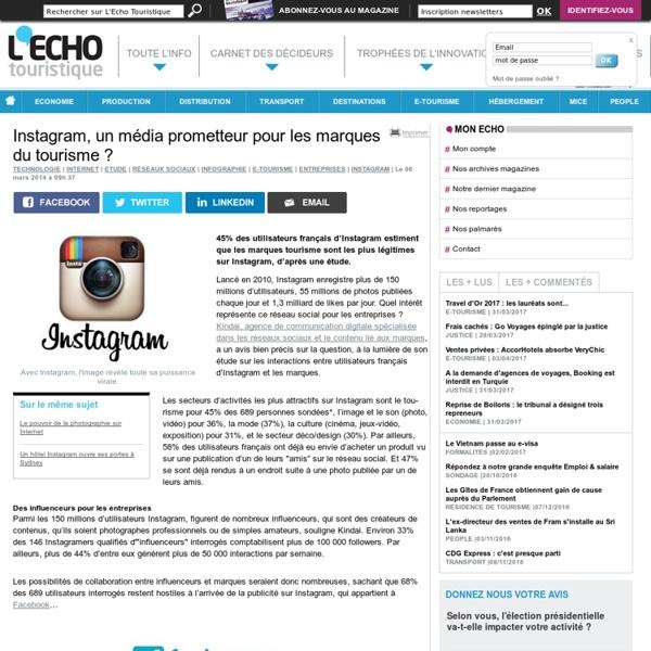 Instagram, un média prometteur pour les marques du tourisme ?