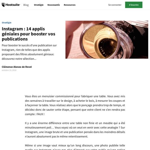 14 applis géniales pour booster vos publications sur Instagram