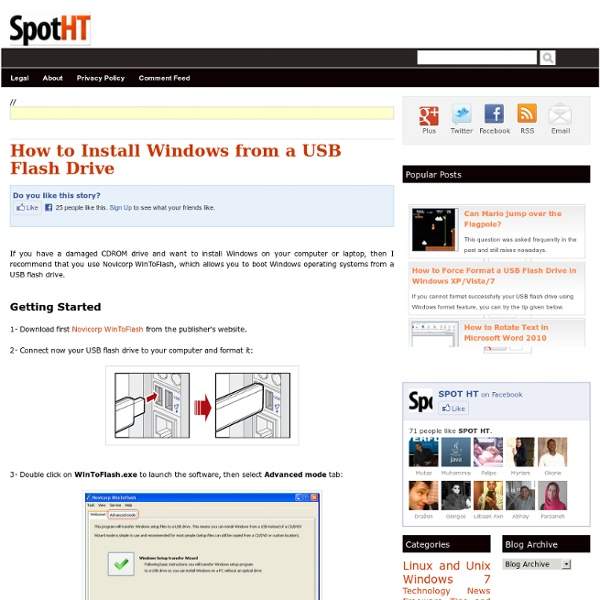 How to Install Windows from a USB Flash Drive