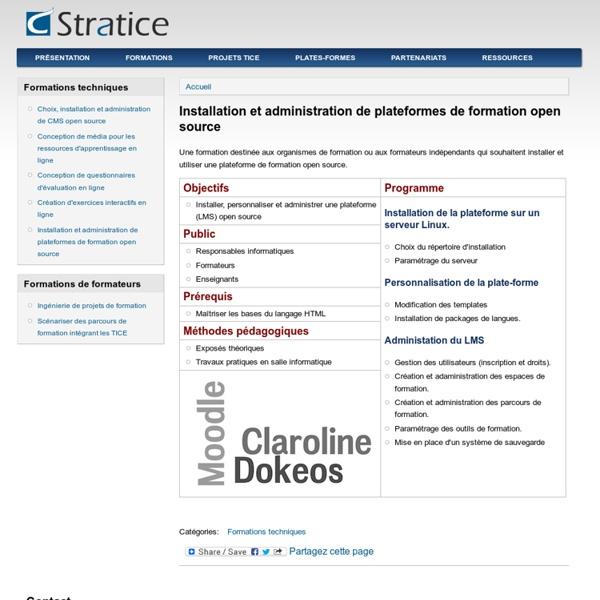 Installation et administration de plateformes de formation open source