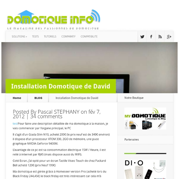 Installation Domotique de David