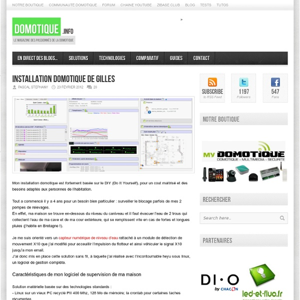 Installation Domotique de Gilles