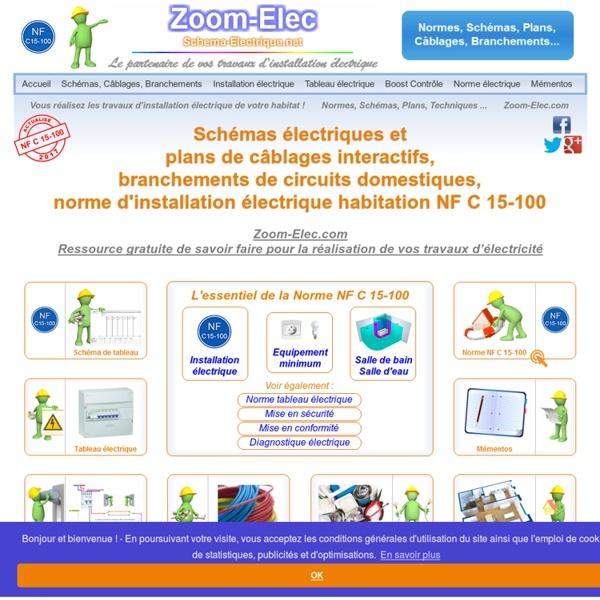 Sch mas normes conseils installation electrique habitation schema electri - Conformite installation electrique domestique ...