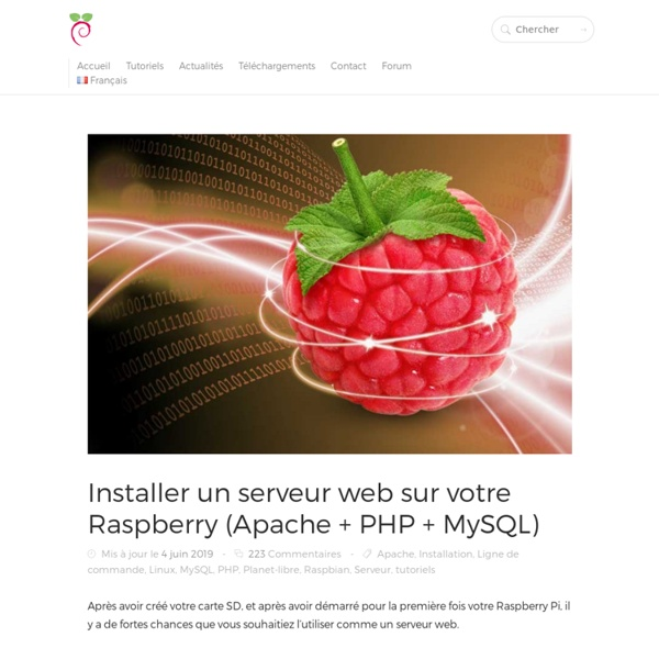 Installer un serveur web sur votre Raspberry