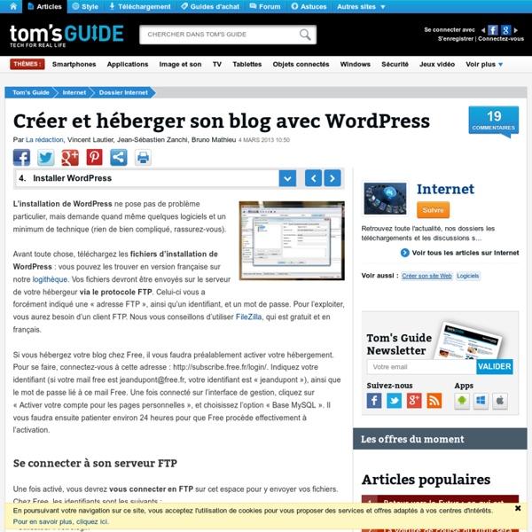 Installer WordPress - Créer et héberger son blog avec WordPress
