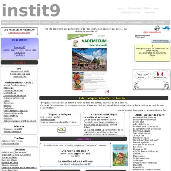 Le site d'un instit très riche pour l'alpha! : instit90: cycles 2 et 3
