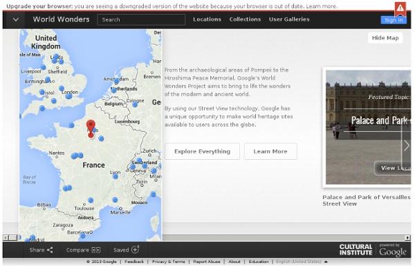 Sites archéologiques – Google World Wonders Project